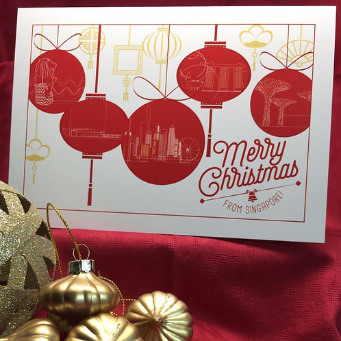 SOLD OUT - Iconic Singapore Christmas cards