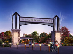 Monroe Bicentennial Commons Entrance Archway
