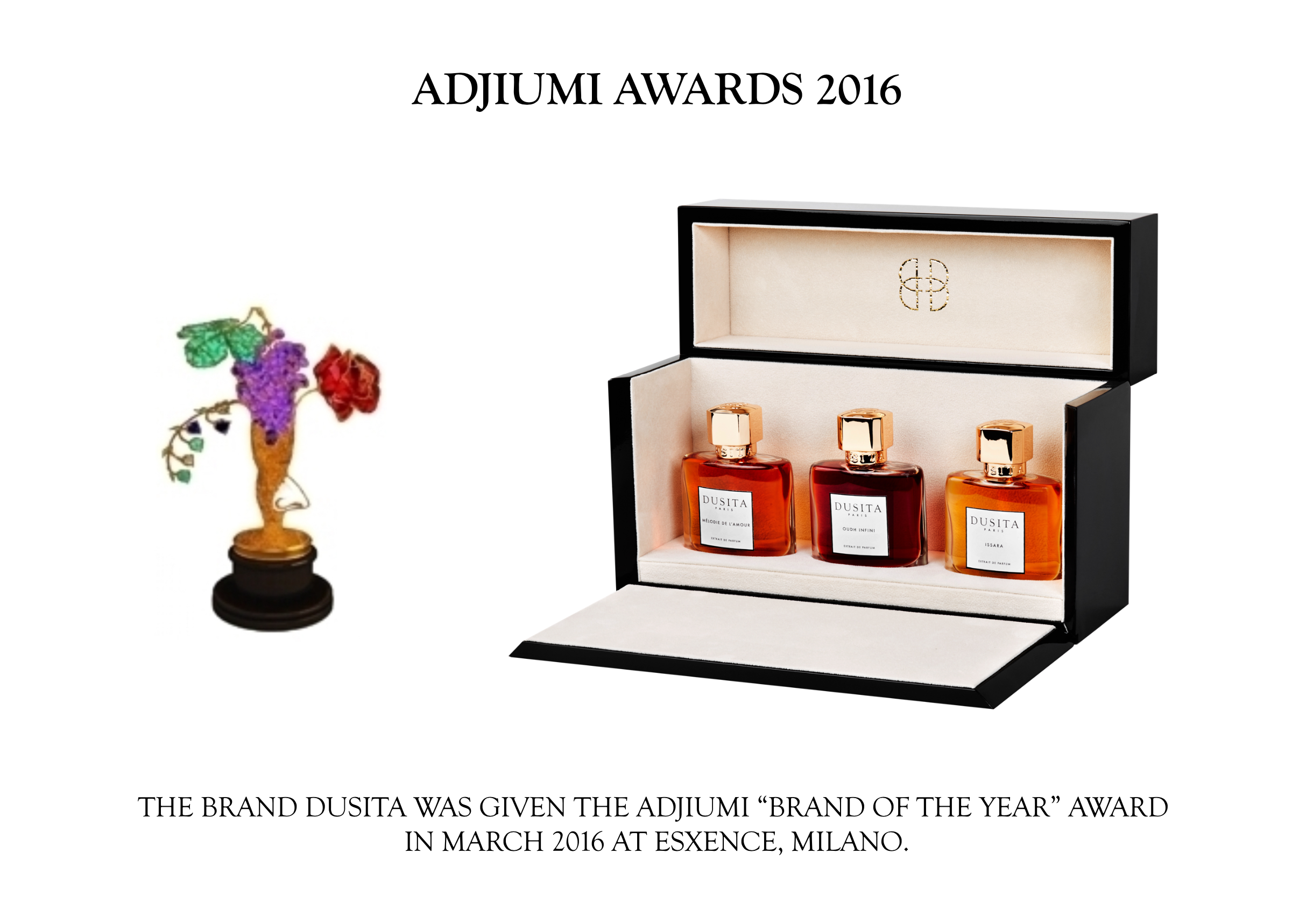 Adjiumi Award 2016 Parfums Dusita