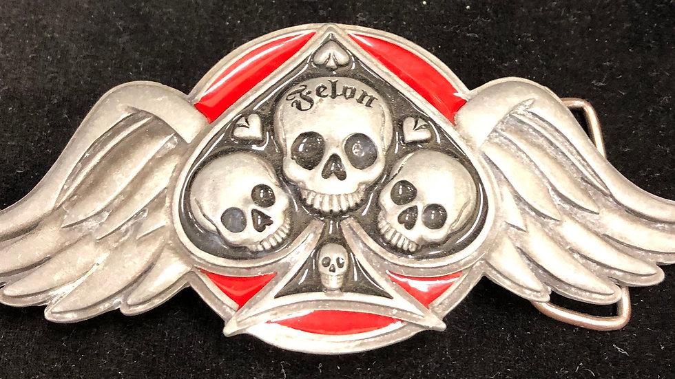 Felon clothing belt buckle