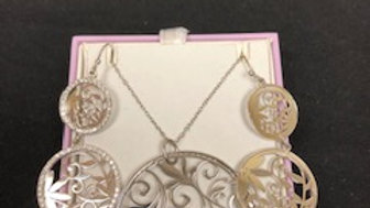 Michel Hill Silver Necklace and Earrings