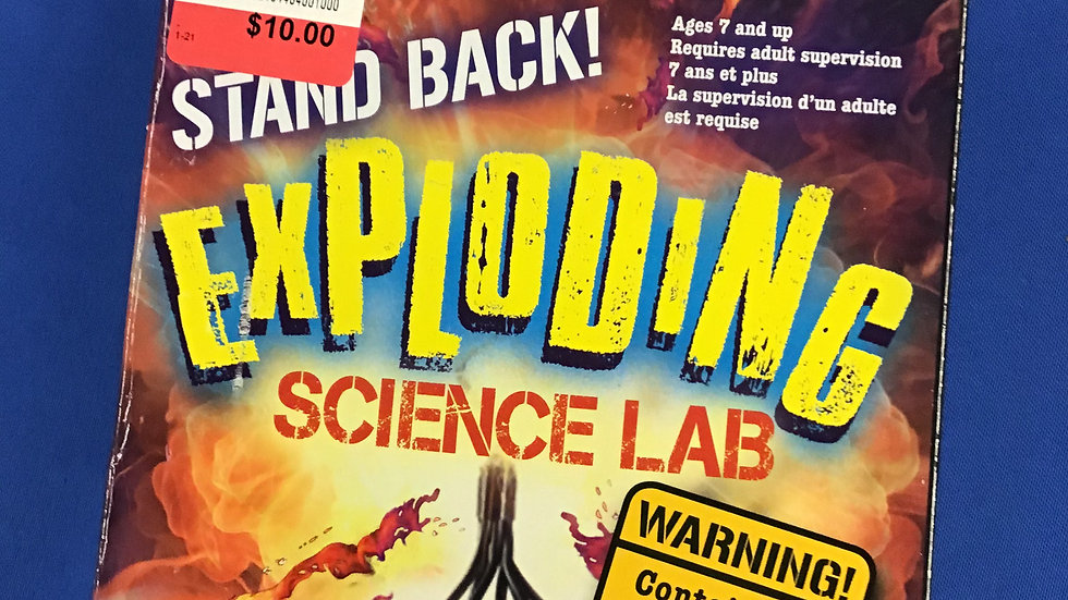 New scholastic exploding science lab W
