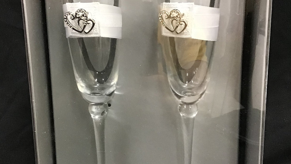 Simply Better Weddingstar champagne glass set