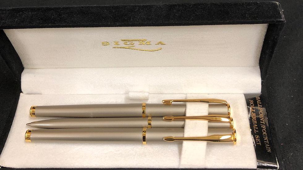 3piece Sigma pen set in case