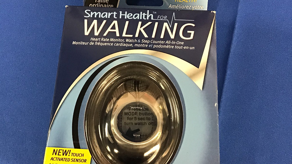 Smart health walking heart rate monitor and step counter W
