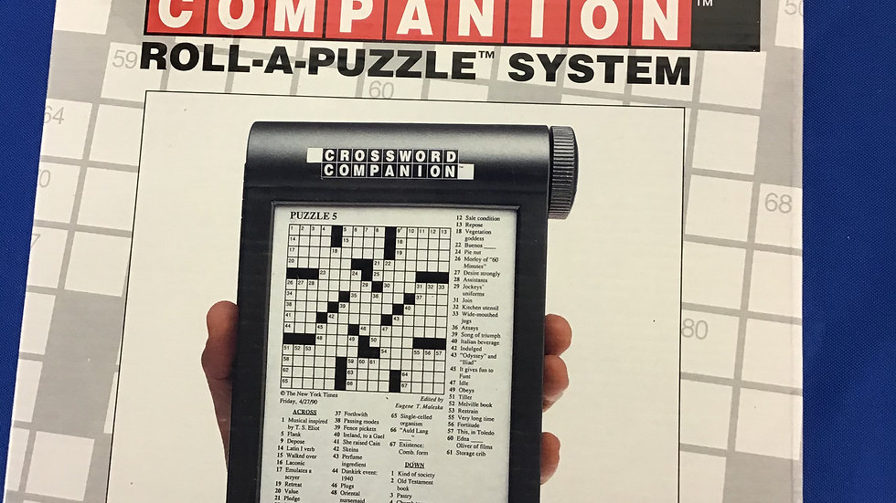 New York Times crossword companion roll a puzzle system W
