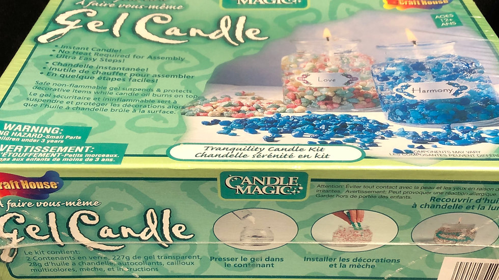 Make your own Gel Candle kit, brand new, ages 12 and up