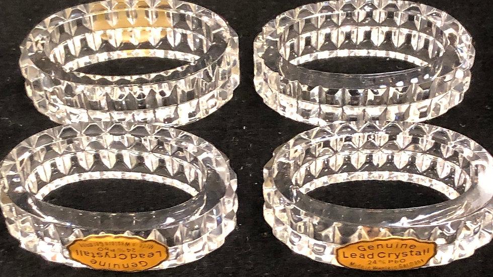 Genuine lead crystal napkin holders