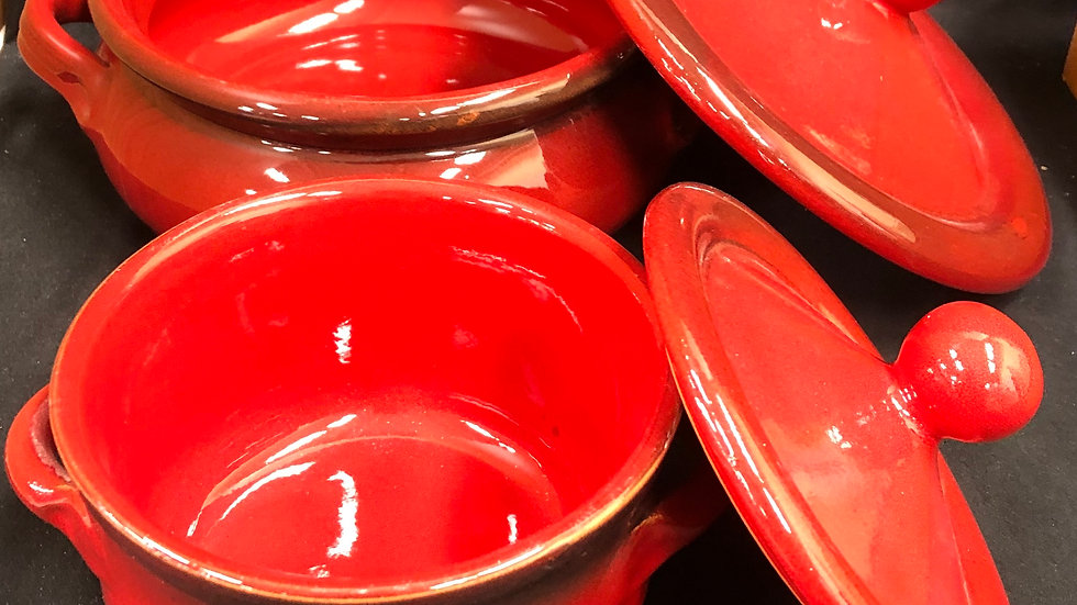 2 pc red baking dishes Made in Italy  Very good condition