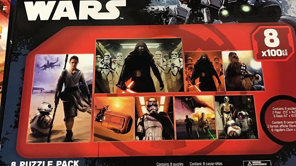 8x 1000 pcs puzzle pack Star Wars W