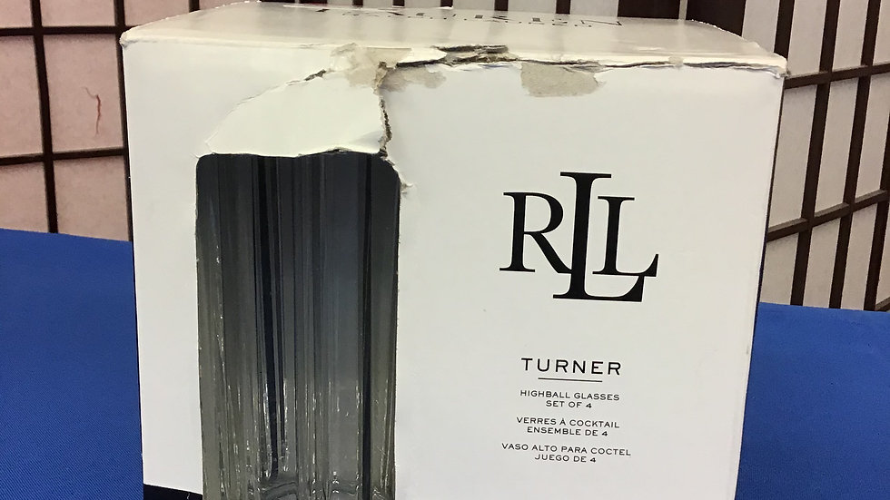 Ralph Lauren turner high ball glasses set of 4 W