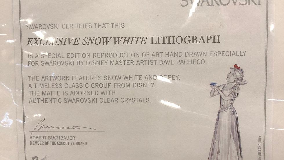 SWAROVSKI Snow White Lithograph Disney/Art/Memorabilia