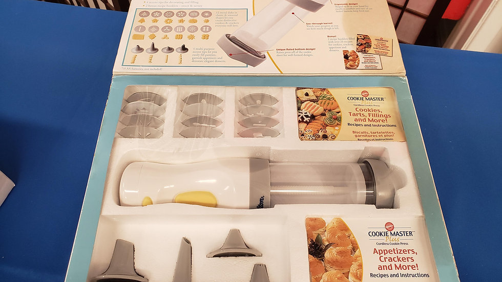 Wilson cookie master plus cordless cookie press W