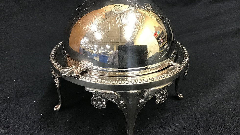 Decorative silver plated on brass display stand