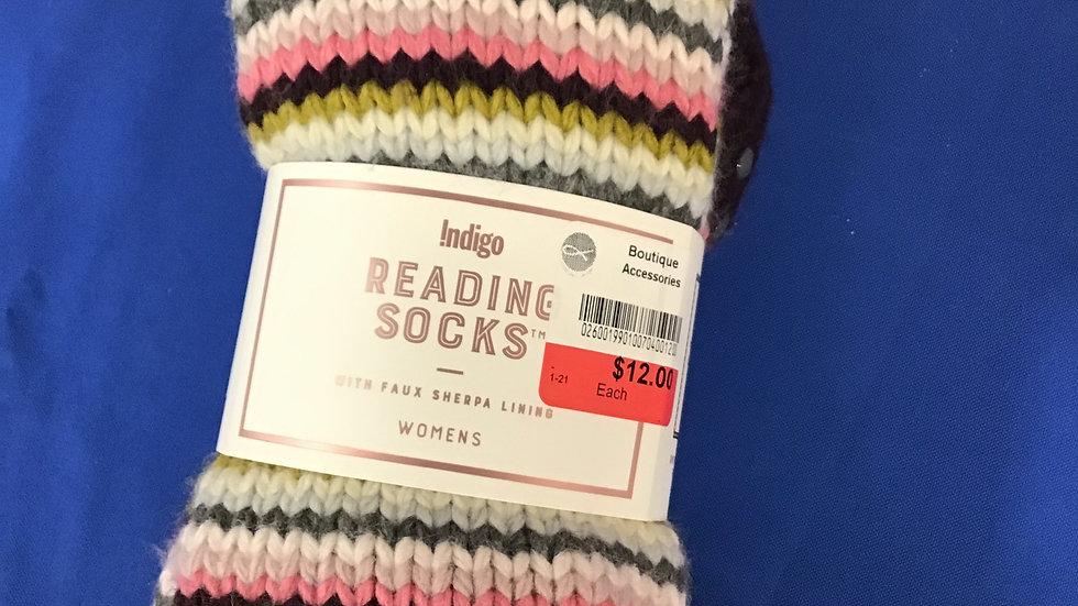 Indigo reading socks