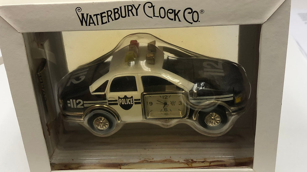 Waterbury clock co police car by Timex