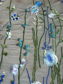 Blaue Blütenpacht