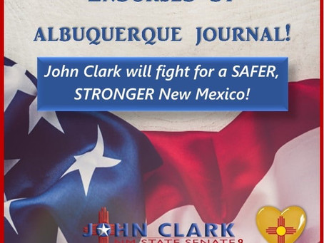 ABQ Journal Endorses John Clark for NM State Senate District 9