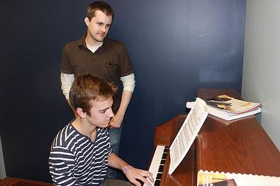 James Auburn & piano student Niels Versavel