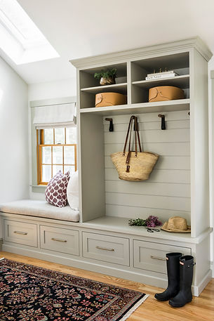 In a mudroom organization is in and rain, mud, leaves, and messes are out. Think of a mudroom like the transition into and out of your ho...