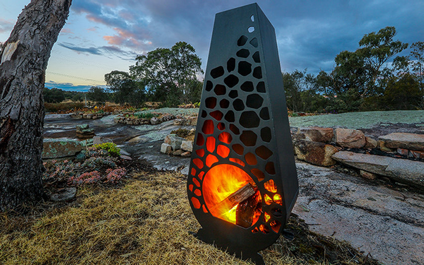 Fire pit Unique Outdoors on the Granite Belt, The Granite Brazier, braziers, Stanthorpe Queensland Australia Tourism