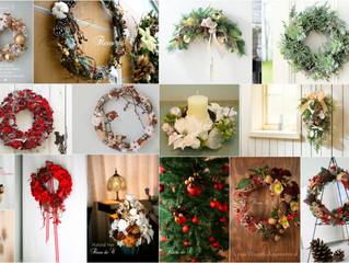 クリスマスリースやスワッグ~お正月飾り。
