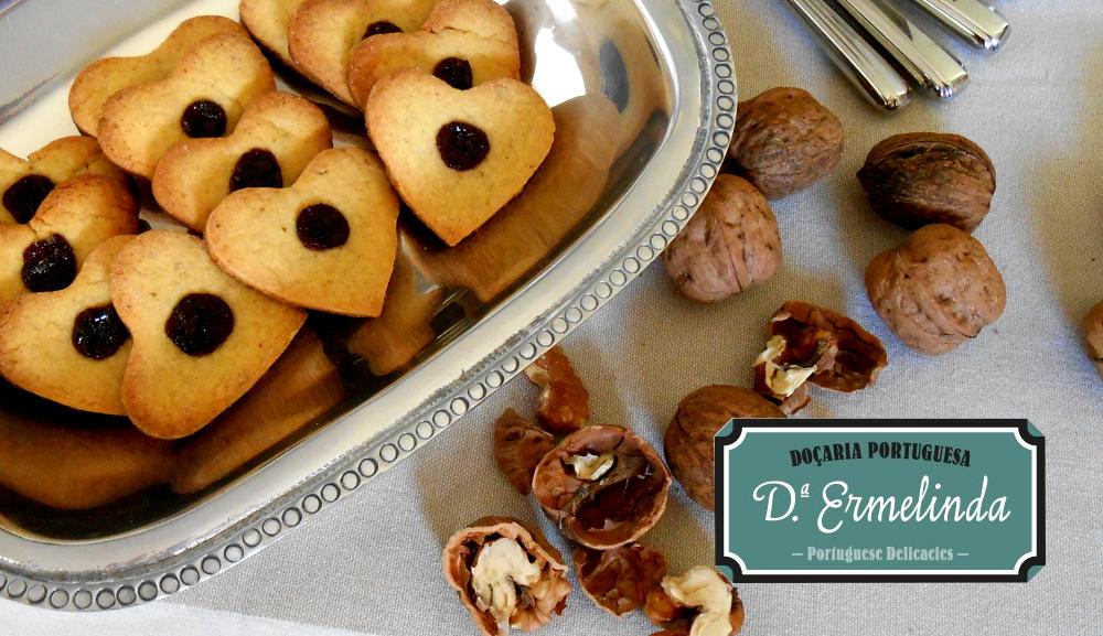 Biscoitos de noz e mirtilo