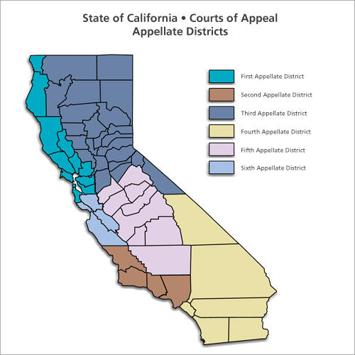 State of California Courts of Appeal Appellate Districts