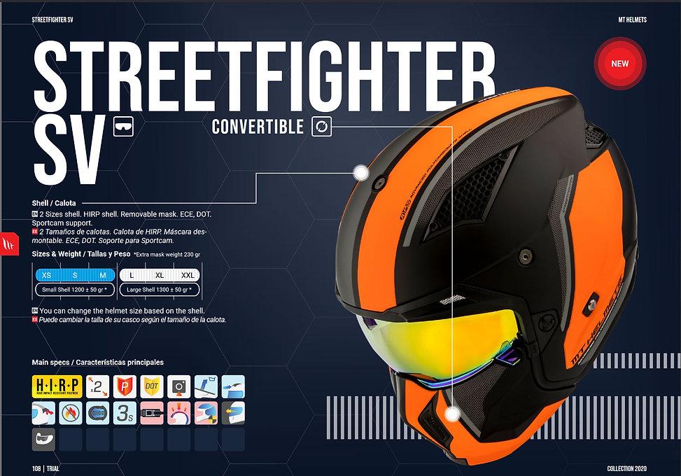 Casque jet, trial et convertible MT HELMETS STREETFIGHTER SV.  MT HELMETS, distribué par MAGEF DIFFUSION