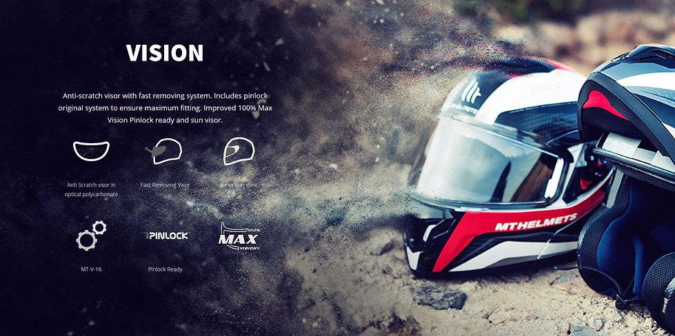 Casque modulable moto et scooter ATOM SV produit par MT HELMETS possédant une visière dernier cri, anti-rayures, pinlock ready, 100% Max vision, ionisé ontre les UV.