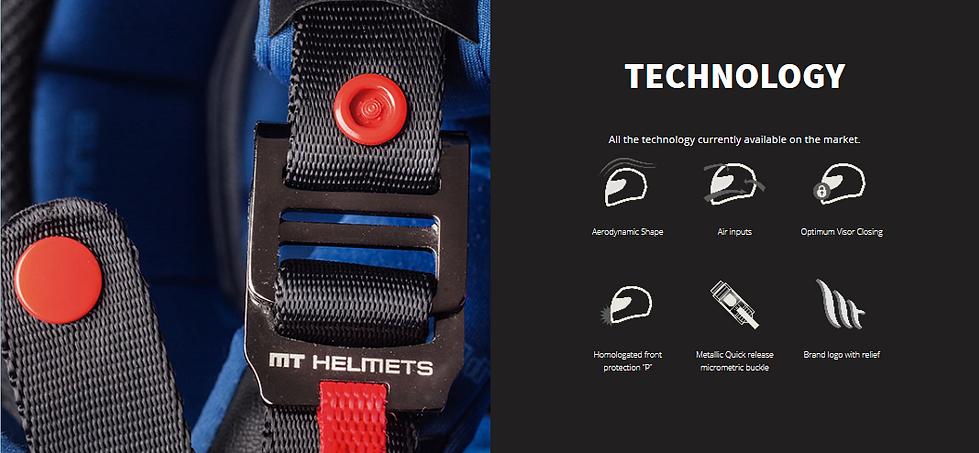 Casque MT HELMETS avec fermeture en boucle double D, Ventilaté, logo 3D, de forme aérodynamique et mentonière renforcée.