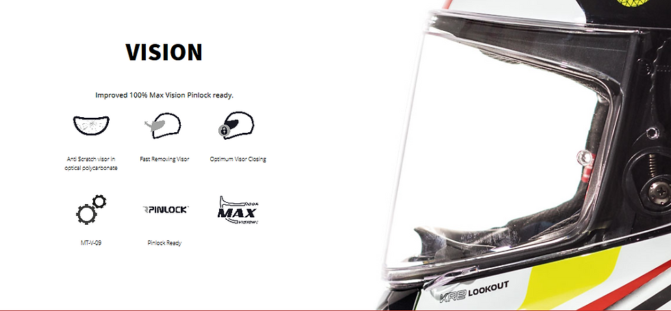 Casque MT HELMETS équippé de visère haut de gamme 100% max vision et pinlock ready.