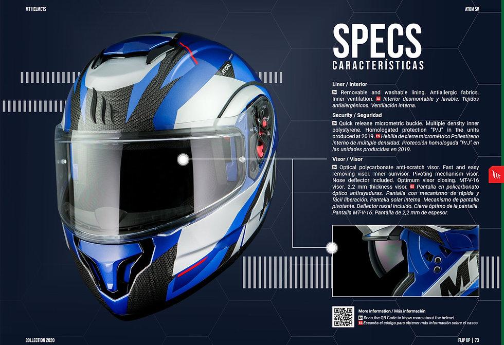 Casque modulable pour moto et scooter ATOM SV. Ce casque et produit MT HELMETS est le meilleur casque modulable sur le marché. Avec visière solair incorporé, prédisposé aux porteu de lunettes et possédant l duble homologation jet/intégral, il est imbatable su le marché à son prix.