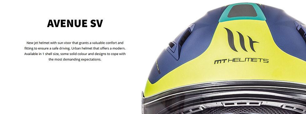 Casque jet MT HELMETS AVENUE SV JET. Casque idéal pour moto et scooter avec une visière solaire intégré. Confortable et polyavent, il era parfait pour vos voyage. MT HELMETS, marque de casque espagnol distribué en suisse pr MAGEF DIFFUSION