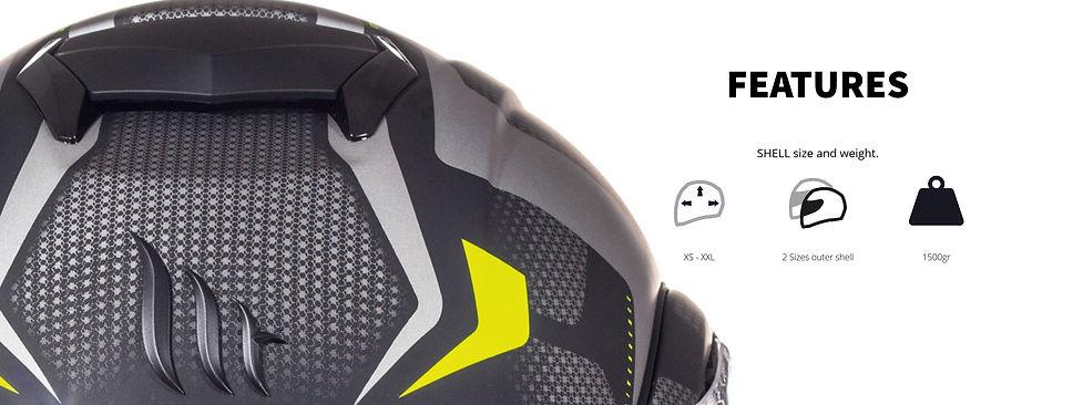 Le casque modulable ATOM SV produit par MT HELMETS vous propose 2 tailles de calottes, des tailles de XS-XXL et un poids de 1650 grammes.