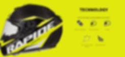Casque Rapide PRO CARBON de MT HELMETS, fermeture boucle double D, forme aérodynamique, aéré, logo 3D et calotte prévu pour l'absorption des chocs.