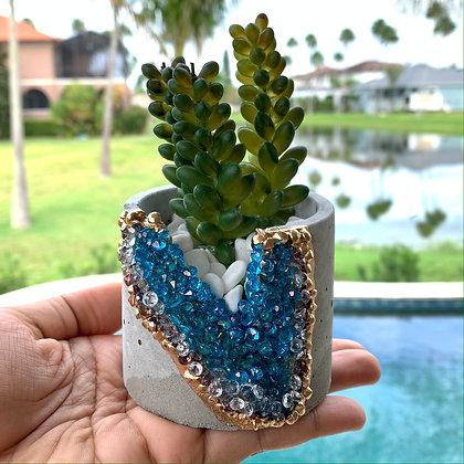 Crystalline Planter (Blue)