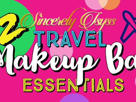 My 12 Travel Makeup Bag Essentials