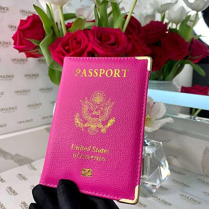 Luxury Passport Cover (Hot Pink)