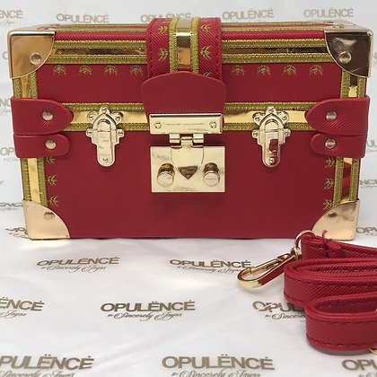 'Bijou' Box Clutch (Red)
