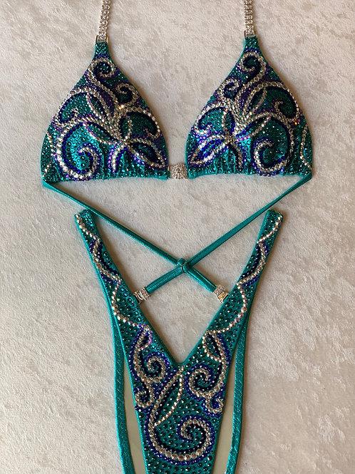 Teal Swirls Figure/WPD Suit