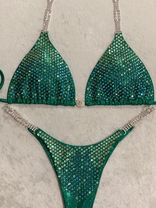 Kelly Emerald Shimmer Ombre Bikini