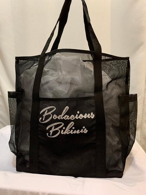 Bodacious Bikinis Mesh Tote(Black)