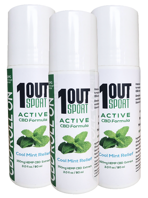 3 Pack of 1Out Sport PRO Strength Formula 350mg - 3oz. (70ml)