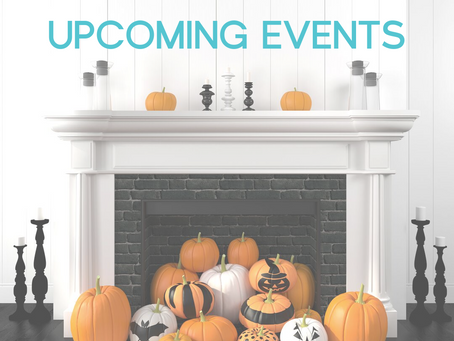 Upcoming October Events!