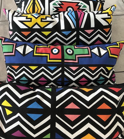 Ndebele cushions