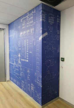 Blue Projects - Custom Wallpaper
