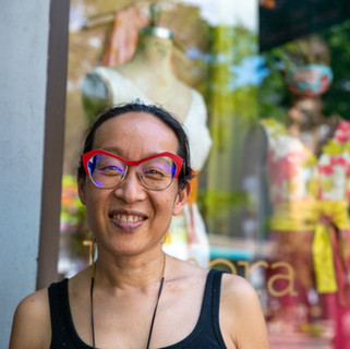 Yvonne Chu, owner of Kimera Design, a lifestyle boutique featuring an in-house line of dresses and bridal on Atlantic Avenue in Boerum Hill
