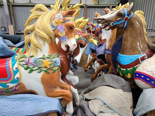 Lost Island Theme Park Carousel sees progress