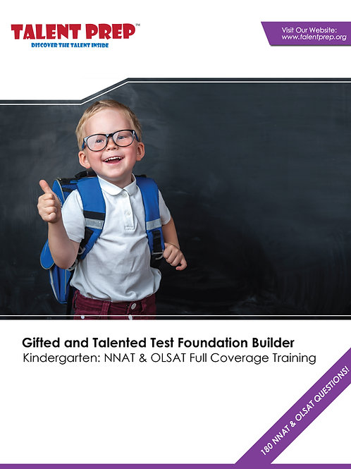 Talent Prep Gifted & Talented Test Foundation Builder: Kindergarten